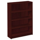 1870 Series Bookcase, Four-Shelf, 36w x 11-1/2d x 48-3/4h, Mahogany HON1874N