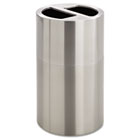 Dual Recycling Receptacle, 30gal, Stainless Steel SAF9931SS