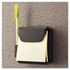 Recycled Plastic Cubicle 3 x 3 Pop-Up Note Dispenser, Charcoal UNV08205
