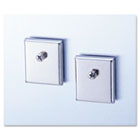 Cubicle Accessory Mounting Magnets, Silver, Set of 2 UNV08172