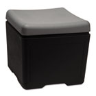 Otto File Ottoman, 18w x 18d x 17-1/4h, Charcoal/Black ICE64531