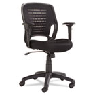 Swivel/Tilt Mesh Task Chair, Black Arms/Base, Black OIFEM4817