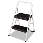 2-Step Folding Steel Step Stool, 220lbs, 17 3/8w x 18d x 28 1/8h, Gray CSC11135CLGG1