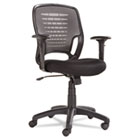Swivel/Tilt Mesh Task Chair, Black Arms/Base, Gray OIFEM4847