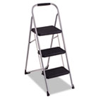 3-Step Big Step Folding Stool, 200lb, 17 3/4w x 28d x 45 5/8h, Platinum CSC11408PBL1E