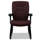 Synopsis Series Guest Arm Chair With Sled Base, Cabernet GLB5092BKS101