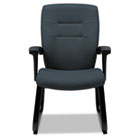 Synopsis Series Guest Arm Chair With Sled Base, Graphite GLB5092BKS111