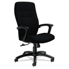 Synopsis Series High-Back Tilter Chair, Black Arms/Base, Black Fabric GLB50904BKS110