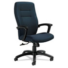 Synopsis Series High-Back Tilter Chair, Black Arms/Base, Sapphire Fabric GLB50904BKS106