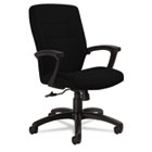Synopsis Series Medium-Back Tilter Chair, Black Arms/Base, Black Fabric GLB50914BKS110