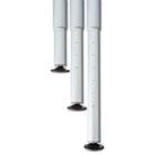 OfficeWorks Freestyle Table Adjustable Height Leg Set, Silver/Chrome, Pair ICE68140