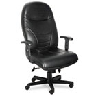 Comfort Series Executive High-Back Chair, Black Leather MLN9413AGBLT