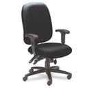 24-Hour High-Performance Task Chair, Acrylic/Poly Blend Fabric, Black MLN2424AG2113