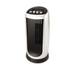 Personal Space Mini Tower Fan, Two-Speed, Black/Silver BNRBT014U