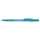 Ballpoint Stick Pen, Blue Ink, Medium, Dozen PAP3311131