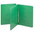 Side Opening Pressboard Report Cover, Prong Fastener, Letter, Green SMD81451