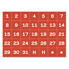 "Calendar Magnetic Tape, Calendar Dates, Red/White, 1"" x 1"" BVCFM1209"
