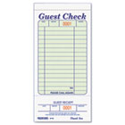 Guest Check Book, 3 3/8 x 6 1/2, Tear-Off at Bottom, 50/Book RED5F740
