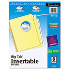 WorkSaver Big Tab Reinforced Dividers W/ Clear Tabs, 8-Tab, Letter, Buff, 1/Set AVE11112
