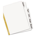 Big Tab Write-On Dividers w/Erasable Laminated Tabs, White, 5/Set AVE23075