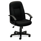 VL601 Series Executive Mid-Back Swivel/Tilt Chair, Black Fabric & Frame BSXVL601VA10
