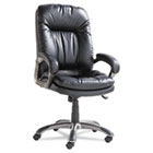 Executive High-Back Swivel/Tilt Leather Chair, Black OIFGM4119