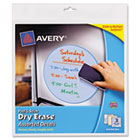 Peel & Stick Dry Erase Decals, Assorted Shapes/Colors, 10 x 10 Sheets, 3/Pack AVE24314