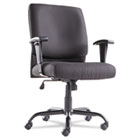 Big & Tall Mid-Back Swivel/Tilt Chair, Fabric, Black OIFBT4510