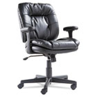 Swivel/Tilt Leather Task Chair, Black OIFST4819