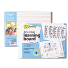Dry Erase Learning Boards, 8 1/4 x 11, 5 Boards/PK PACLB8511
