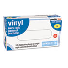 General-Purpose Vinyl Gloves, Powder&Latex-Free, 4 mils, Large, Clear, 100/Box BWK365L