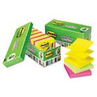 Ultra Pop-Up Note Refills, 3 x 3, Assorted, 18 100-Sheet Pads/Pack MMMR33018AUCP