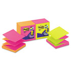 Pop-Up Refills, 3 x 3, Four Alternating Neon Colors, 100/Pad, 12 Pads/Pack MMMR330NALT
