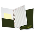 Gold Fibre Personal Notebook, College/Med Rule, 5 x 7, Classic Green, 100 Sheets ESS20801