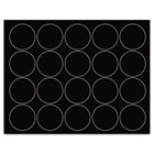 "Interchangeable Magnetic Characters, Circles, Black, 3/4"" Dia., 20/Pack BVCFM1605"