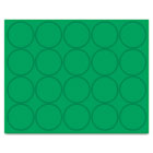 "Interchangeable Magnetic Characters, Circles, Green, 3/4"" Dia., 20/Pack BVCFM1602"