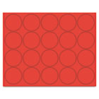 "Interchangeable Magnetic Characters, Circles, Red, 3/4"" Dia., 20/Pack BVCFM1604"