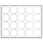 "Interchangeable Magnetic Characters, Circles, White, 3/4"" Dia., 20/Pack BVCFM1618"