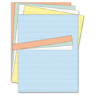 Data Card Replacement Sheet, 8 1/2 x 11 Sheets, Assorted, 10/PK BVCFM1614