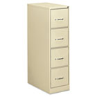 Four-Drawer Economy Vertical File, 15w x 26-1/2d x 52h, Putty EFS41106