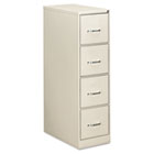 Four-Drawer Economy Vertical File, 15w x 26-1/2d x 52h, Light Gray EFS41107