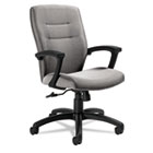 Synopsis Series Medium-Back Tilter Chair, Black Arms/Base, Graphite Fabric GLB50914BKS111