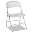 Steel Folding Chair, Light Gray, 4/Carton ALEFC94LG