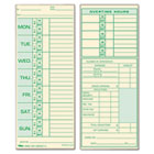 Time Card for Pyramid Model 331-10, Weekly, Two-Sided, 3-1/2 x 8-1/2, 500/Box TOP1291