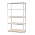 Stur-D-Stor Shelving, Five-Shelf, 48w x 24d x 84h, Sand TNNLSS482484