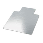Cleated Chair Mat for Low and Medium Pile Carpet, 45 x 53, Clear UNV56807