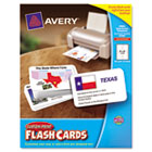 Printable Flash Cards, 3 x 5, White, 4 Cards/Sheet, 100/Pack AVE04750