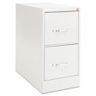 Two-Drawer Economy Vertical File, 15w x 26-1/2d x 29h, Light Gray EFS21107