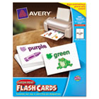 Printable Flash Cards, 4 1/2 x 5 1/2, White, 4 Cards/Sheet, 100/Pack AVE04765