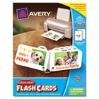 Printable Flash Cards, 8 Divider Tabs, 3 x 5, White, 4 Cards/Sheet, 100/Pack AVE04753